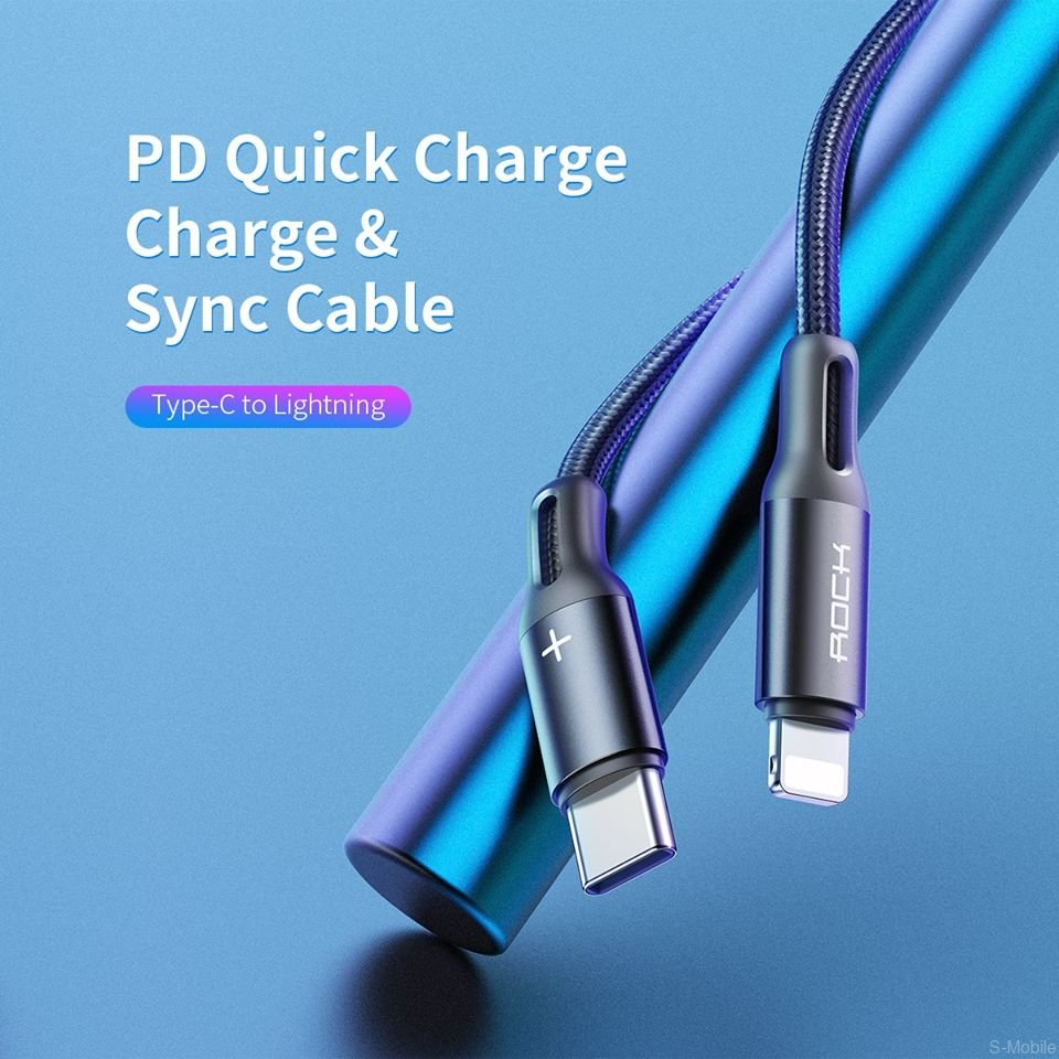Кабель Rock R2 USB - Type-C 5A Super Fast Charge Metal Braided Charge & Sync Round Cable
