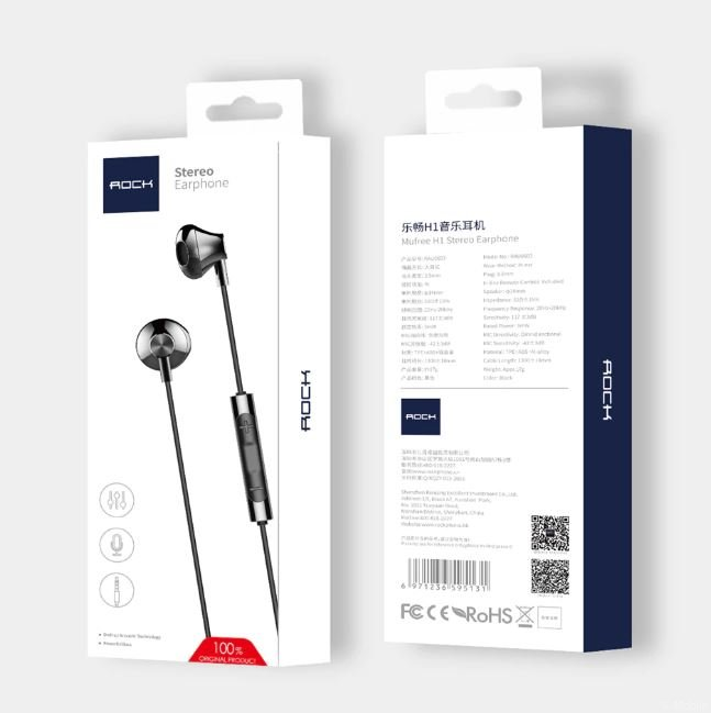 Стерео наушники Rock Mufree H1 Stereo Earphone rau0603