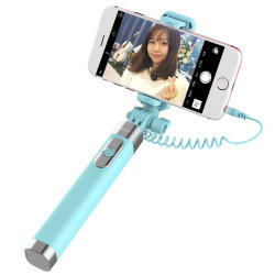 Монопод для селфи Rock Selfie stick with wire control & mirror II