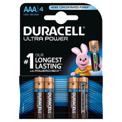 Элемент питания DURACELL  LR03  BL4 ULTRA POWER (40/30000)