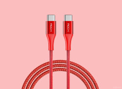 Кабель Type-C-Type-C Rock USB-C to C 3A Metal Charge & Sync Round Cable rcb0693